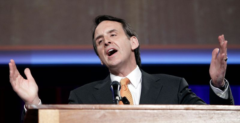 Former Minnesota Gov. Tim Pawlenty, seen here addressing Ohio Republicans in Cleveland on March 30, took another step in his GOP presidential bid, leasing office space in a Minneapolis high-rise. (Associated Press)