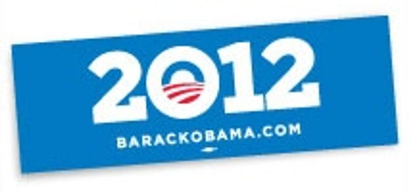President Obama's new re-election bumper sticker. (Image from Obama for America)