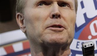 ** FILE ** In this March 11, 2011, file photo, New York Giants owner John Mara speaks with reporters about labor negotiations in Washington. (AP Photo/J. Scott Applewhite, File)