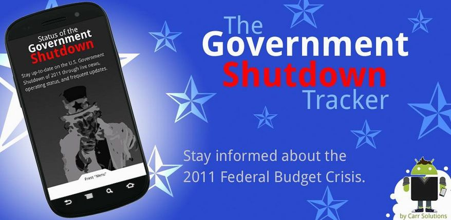 The Government Shutdown Tracker is a smartphone application. (Carr Solutions)
