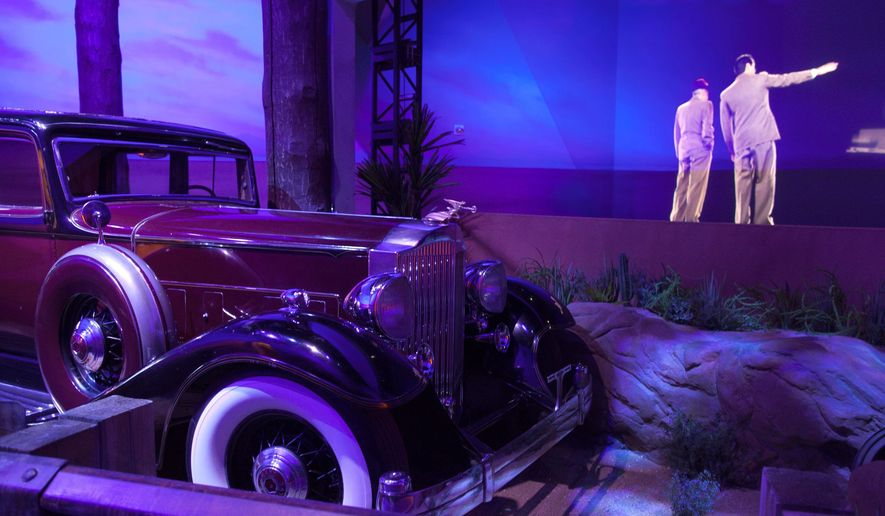 "A limousine once belonging to mobster Benjamin ""Bugsy"" Siegel is on display at the ""Mob Experience"" exhibit at the Tropicana Hotel and Casino in Las Vegas. (Associated Press)"