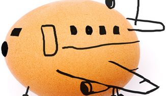 Illustration: Airlines by Alexander Hunter for The Washington Times