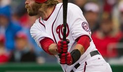 "DREW ANGERER/THE WASHINGTON TIMES Nationals right fielder Jayson Werth hit 36 home runs and collected 99 RBI, both career-bests, in leading Philadelphia to the NL championship in 2009. ""We did some great things for that organization, for that city,"" he said."