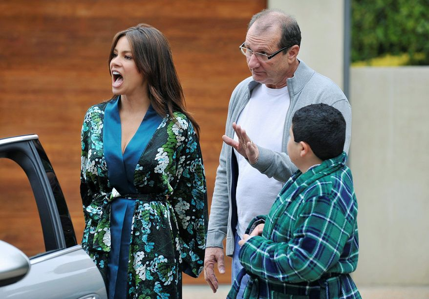 """Sofia Vergara, Ed O'Neill and Rico Rodriguez attract more than 3 million viewers to DVR playbacks of ABC's """"Modern Family,"""" a ratings boost. (ABC via Associated Press)"""