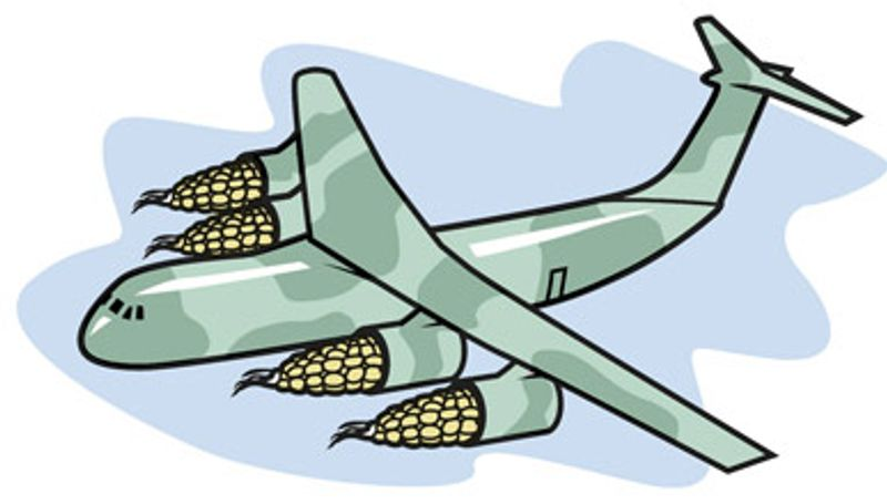 Illustration: Air Force biofuel by Linas