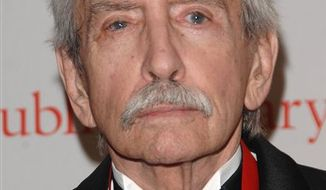 FILE - This Monday, Nov. 3, 2008 picture shows Edward Albee in New York. Albee won the Edward MacDowell Medal for outstanding achievement in his field. The MacDowell Colony, a leading artist colony, announced the award Tuesday, April 12, 2011.  (AP Photo/Peter Kramer)