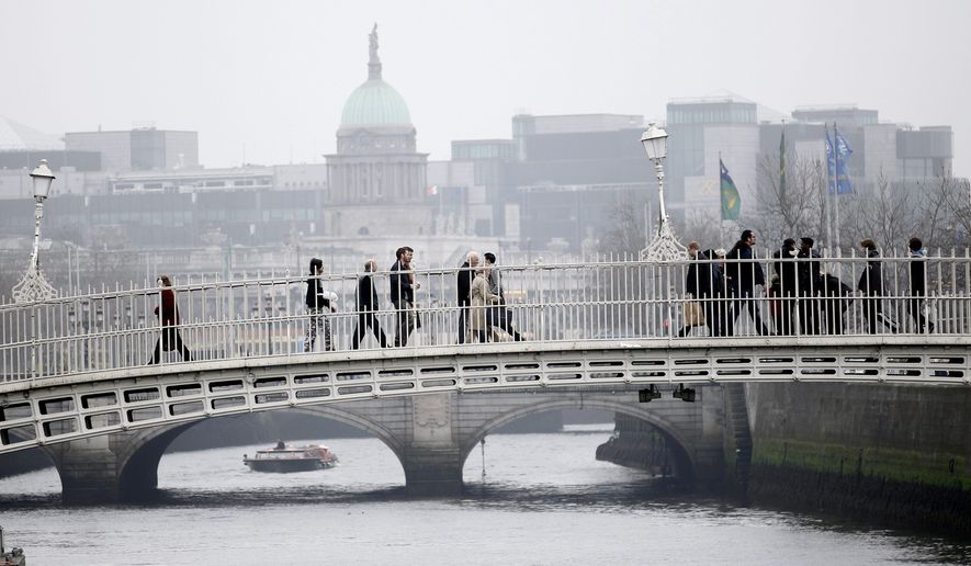 A trip to Ireland that might include visits to well-known spots such as the bridge over the River Liffey in Dublin is a more affordable option than it was during the Emerald Isle's Celtic Tiger economic boom. Savvy online shoppers can find below-market rates even in the heart of Dublin. (Associated Press)