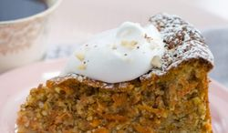 A flourless carrot torte is a perfect dessert for a Passover Seder, and its pale orange color is especially inviting for springtime. A light sprinkling of hazelnuts, if desired, is sufficient as garnish. (Associated Press)