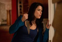 """Miss Campbell's Sidney Prescott returns to the scene of the """"Scream"""" franchise's original murders to finish a book tour in """"Scream 4."""" Upon returning, the character finds a new serial killer has targeted her younger cousin. (Associated Press)"""