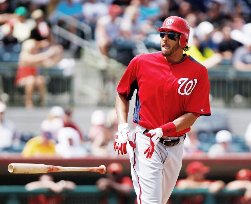 Nationals left fielder Michael Morse is just 4-for-27 with nine strikeouts after batting .364 with nine homers and 18 RBI in 21 spring-training games. (Associated Press)
