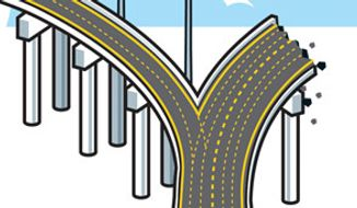 Illustration: Crossroads by Linas Garsys for The Washington Times