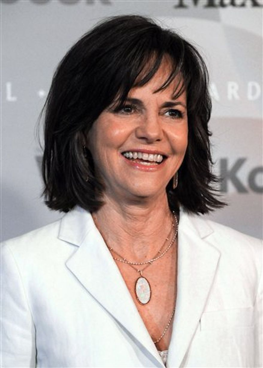 FILE - In this June 1, 2010 file photo, actress Sally Field arrives at the Crystal Lucy Awards in Los Angeles. (AP Photo/Katy Winn, file)