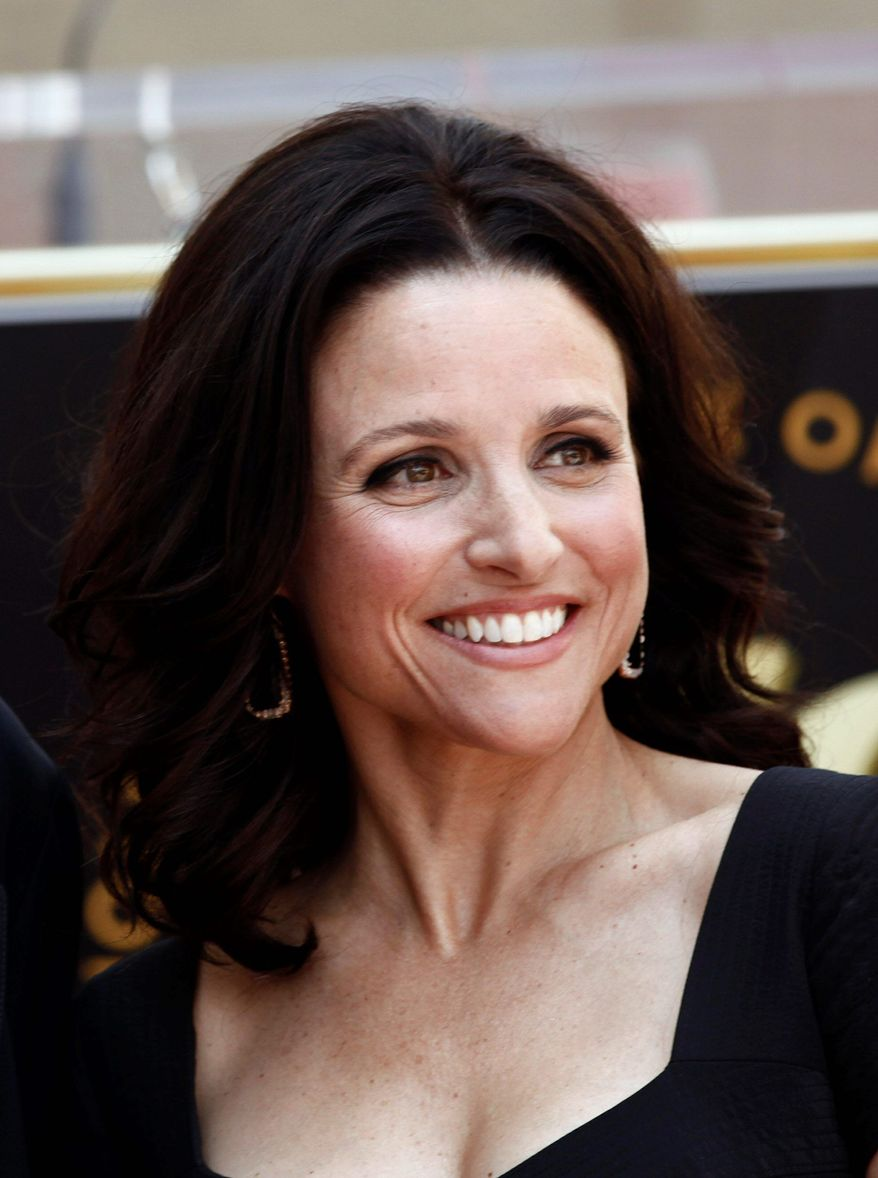 "Julia Louis-Dreyfus' new series, ""Veep"" on HBO, will be shot in Baltimore, where its pilot was filmed as the District's stand-in. (Associated Press)"