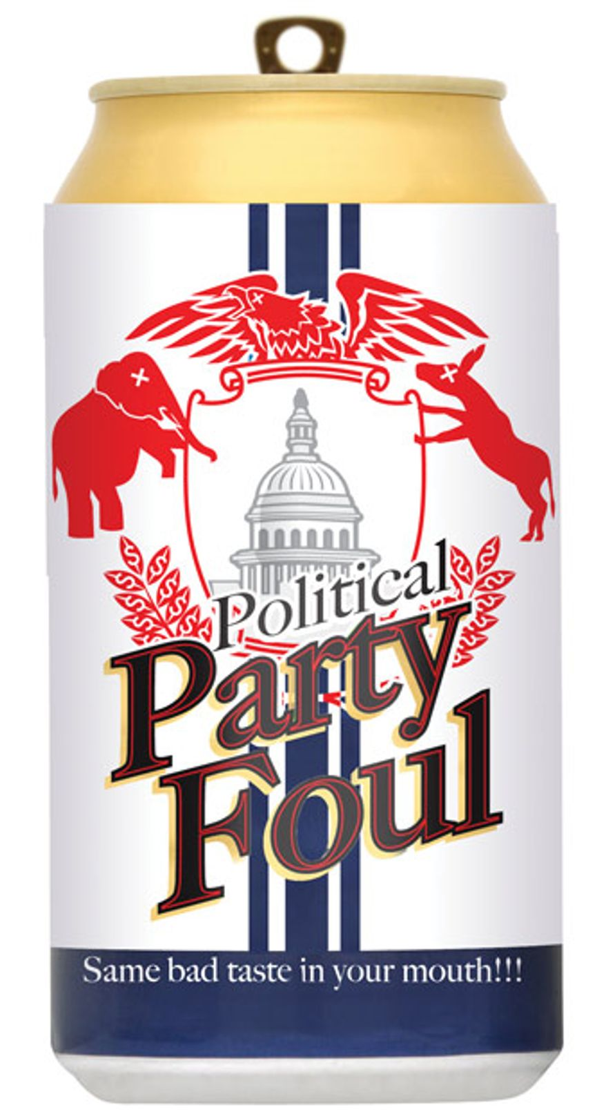 Illustration: Political party foul by Linas Garsys for The Washington Times