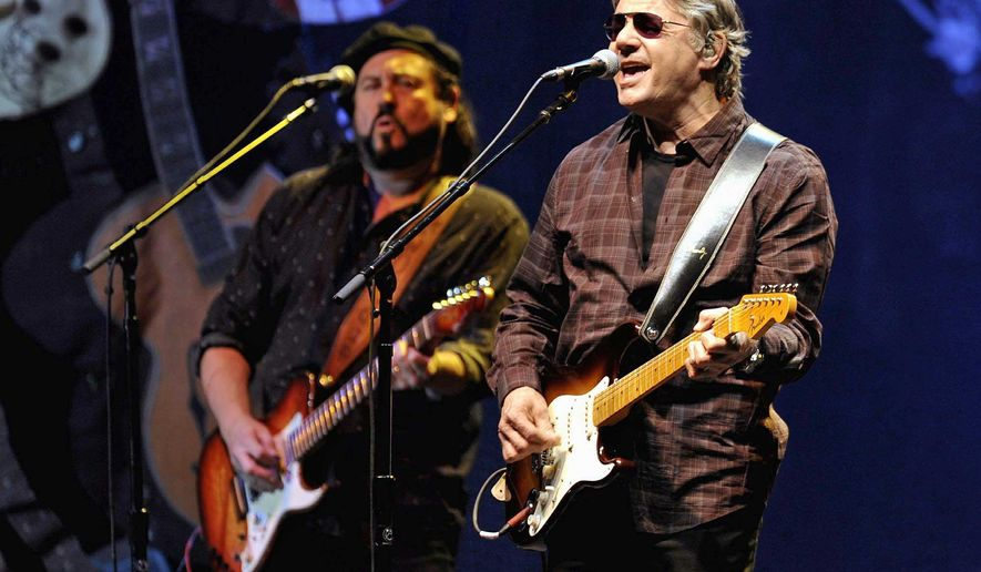 Steve Miller and guitar player Kenny Lee Lewis perform in Duesseldorf, Germany, in November.