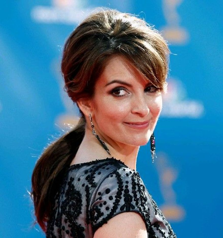 Actress-comedienne Tina Fey, 40, arrives at the 62nd Primetime Emmy Awards in Los Angeles on Aug. 29. Ms. Fey has won seven Emmys, as well as three Golden Globes. (Associated Press)
