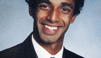 Dharun Ravi is shown in a photo from West Windsor-Plainsboro (N.J.) High School North's 2010 yearbook, when he was a senior. (AP Photo/West Windsor-Plainsboro High School North, File)