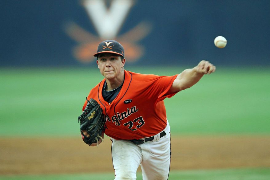 Danny Hultzen (above), a Bethesda product, is sporting a 1.17 ERA for top-ranked Virginia. Shortstop Chris Taylor (left) bats leadoff for a Cavaliers' team that is hitting over .300. (Jim Daves/University of Virginia Athletics)