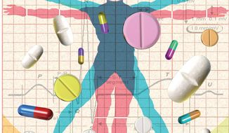 Illustration: Personalized medicine by Alexander Hunter for The Washington Times