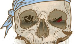 Illustration: Pirates of the Carribbean by Linas Garsys for The Washington Times
