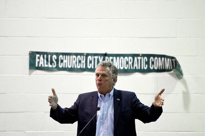 Terry McAuliffe says he doesn't think much about running again for Virginia governor, but his travels across the state suggest otherwise. (Drew Angerer/The Washington Times)