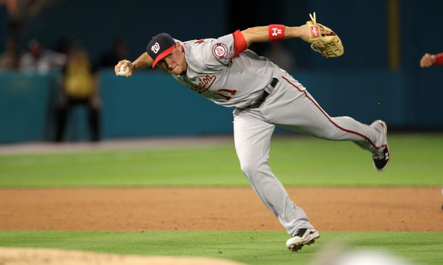 Associated Press Nationals third baseman Ryan Zimmerman has 15 total bases and a .486 on-base percentage In eight games this season.