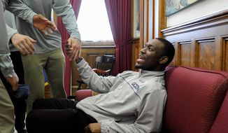 "ASSOCIATED PRESS photographs Connecticut guard Kemba Walker, a junior, left early for the NBA draft. ""I'm still graduating in three years,"" he said."