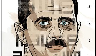Illustration: Bashar Assad by Linas Garsys for The Washington Times
