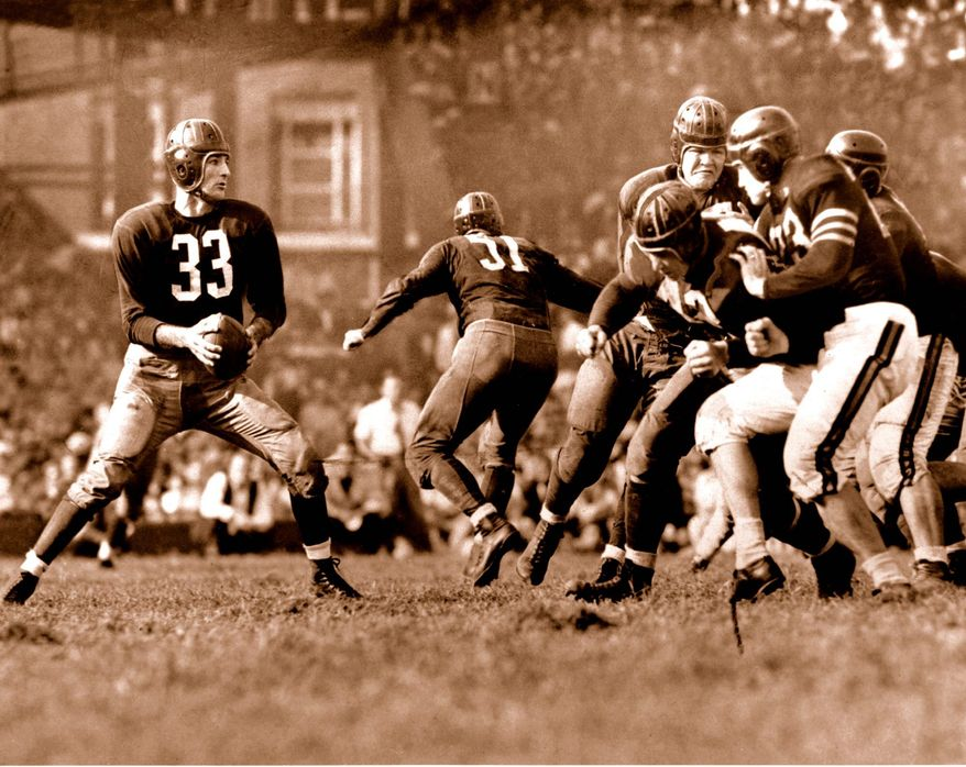 QB Sammy Baugh*, TCU (1937, 6th overall) - Quarterbacked the Redskins to the title as a rookie. By the time he was done, he owned practically every team and league passing mark.
