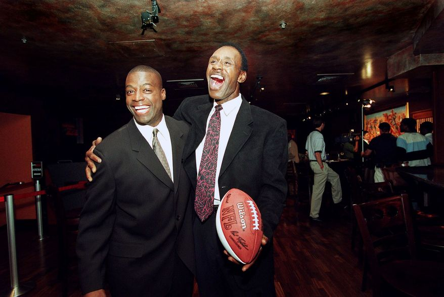 RB Charlie Taylor*, (right) Arizona State (1964, 3rd) - A Pro Bowler at running back and receiver (where he became the NFL's all-time receptions leader). Also a lights-out blocker. CB Darrell Green*, (left)Texas A&M-Kingsville (1983, 28th) - The perennial NFL's Fastest Man played 20 stellar seasons at arguably the most difficult position on the field. His punt-returning was top shelf, too.