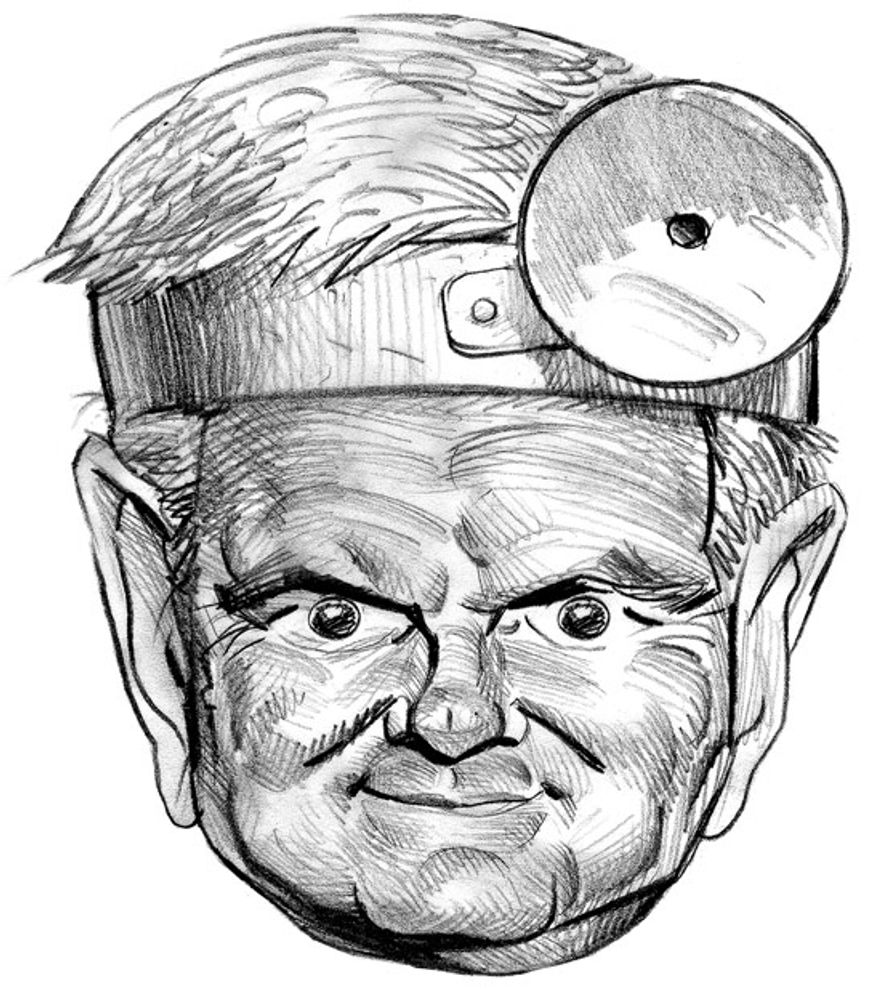 Illustration: Doctor Gingrich by Alexander Hunter for The Washington Times