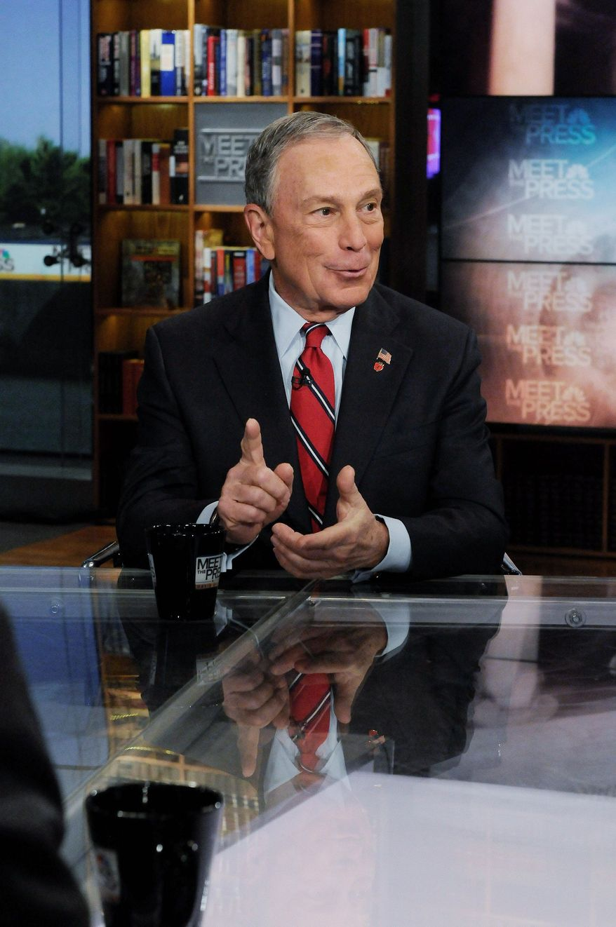 NBC VIA ASSOCIATED PRESS New York City Mayor Michael R. Bloomberg suggested Sunday that illegal immigrants could earn citizenship by working in Detroit.