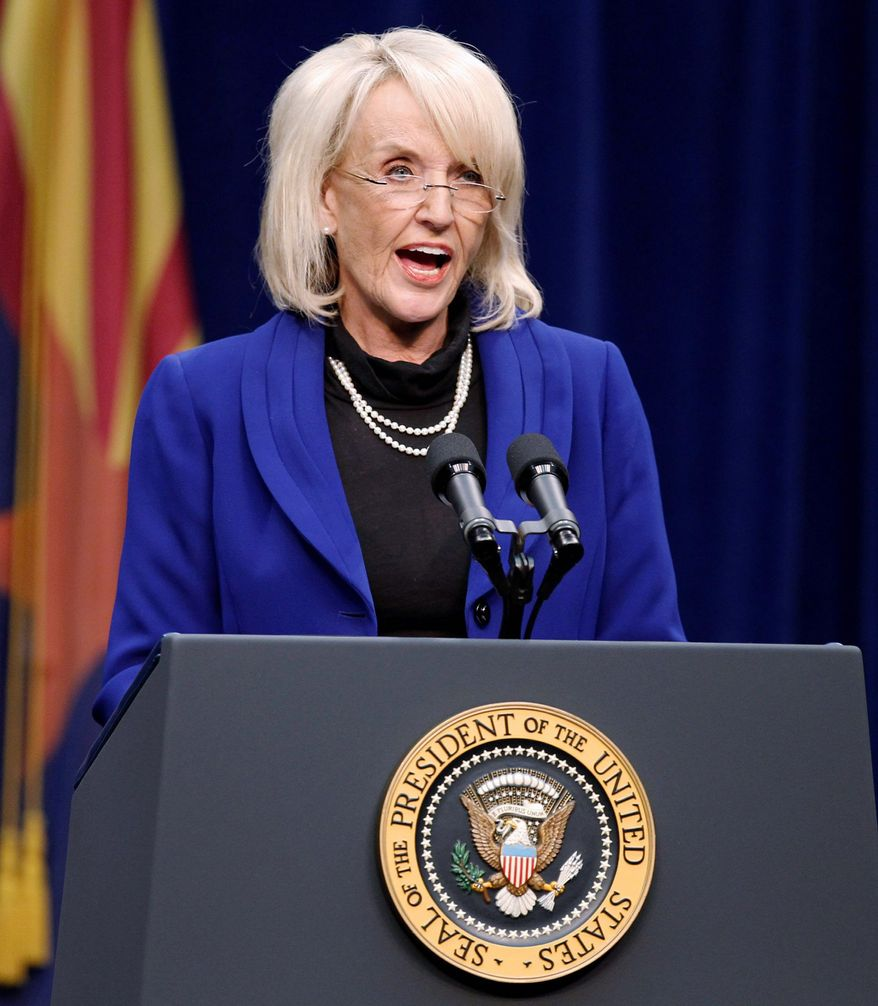 Arizona Gov. Jan Brewer a year ago became the face of anti-Washington sentiment when she signed the toughest state immigration law. (Associated Press)
