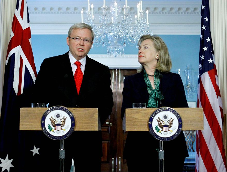 "ASSOCIATED PRESS Australian Foreign Minister Kevin Rudd says in Washington on Monday that with the killing of Osama bin Laden, the world must be ""vigilant"" against reprisals."