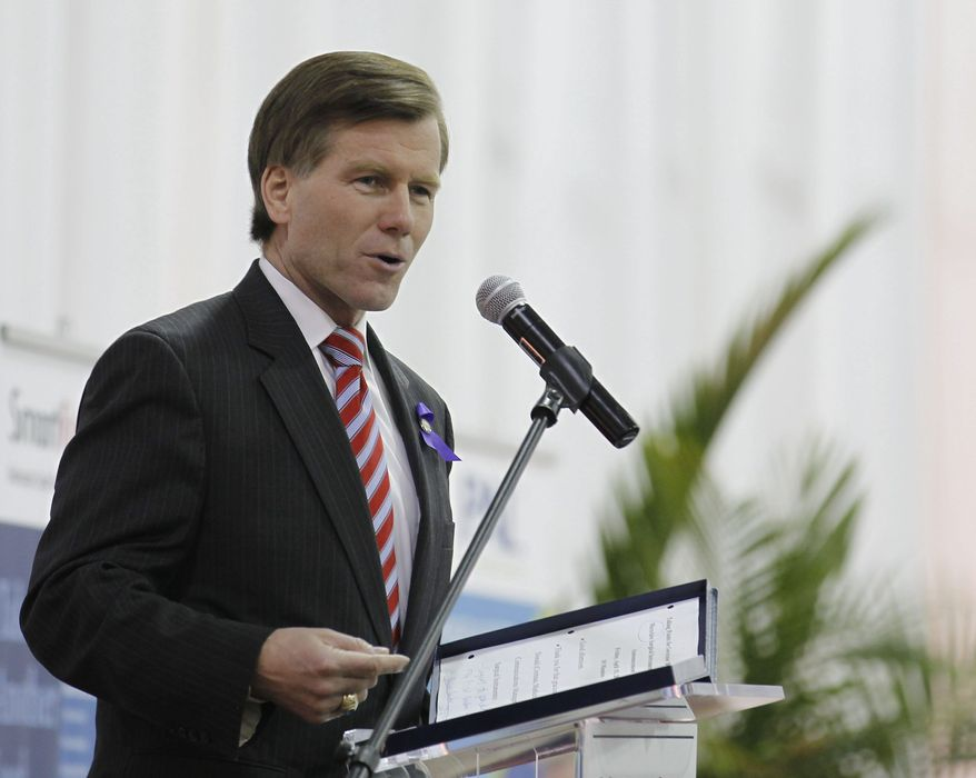 Virginia Gov. Robert F. McDonnell used a line-item veto Tuesday  to cut 25 percent of the state's  funding to public broadcasting. (Associated Press)