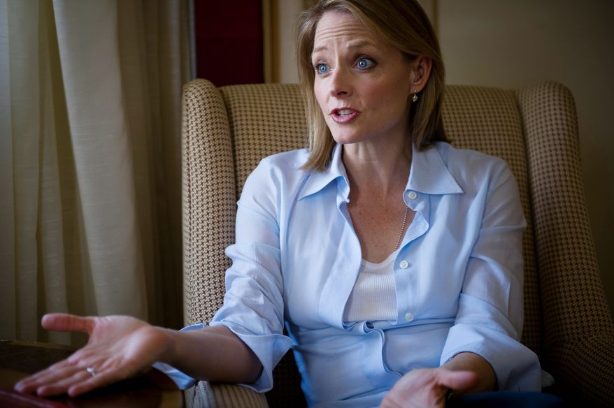 Actress and director Jodie Foster talks about her movie The Beaver starring actor Mel Gibson, during an interview at the Mandarin Oriental in Washington D.C., Monday, April 3, 2011. (Photo by Rod Lamkey Jr./The Washington Times)