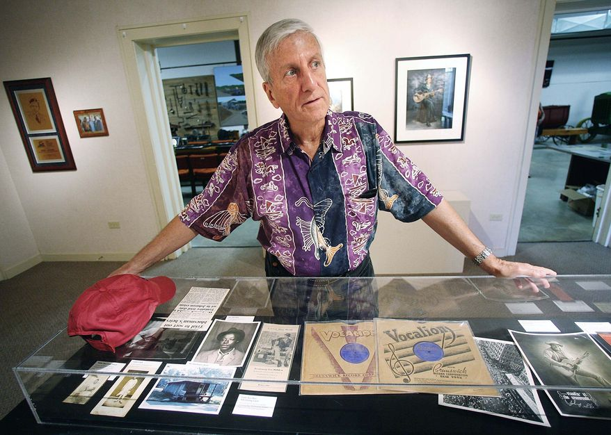 "ASSOCIATED PRESS PHOTOGRAPHS Steve LeVere, a blues historian and curator of the Robert Johnson centennial arts exhibit in Greenwood, Miss., talks about upcoming activities featuring local and nationally recognized blues musicians to celebrate Johnson's influence. ""Of course, he died when he was 27,"" Mr. LeVere said. ""He didn't give a whole lot of people much of a chance to get to know him,"""