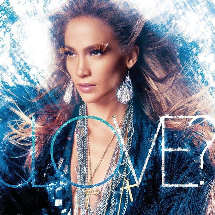 """In this CD cover image released by Island Def Jam Music Group, the latest release by Jennifer Lopez, """"Love?"""" is shown. (AP Photo/Island Def Jam Music Group)"""