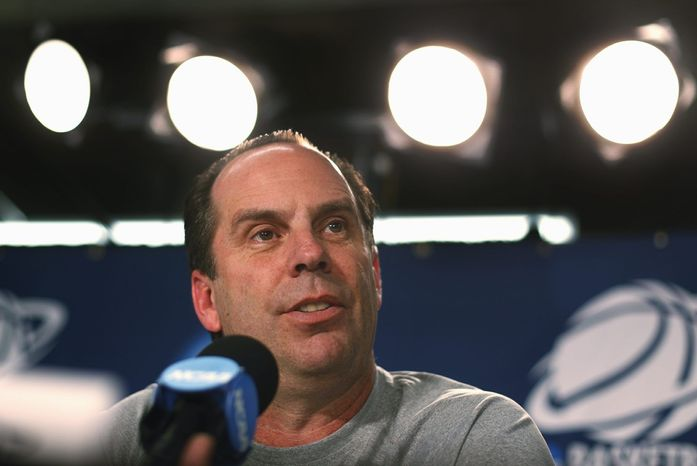 ASSOCIATED PRESS Notre Dame's Mike Brey was named Associated Press coach of the year this past season. He had been linked to the opening at Maryland.