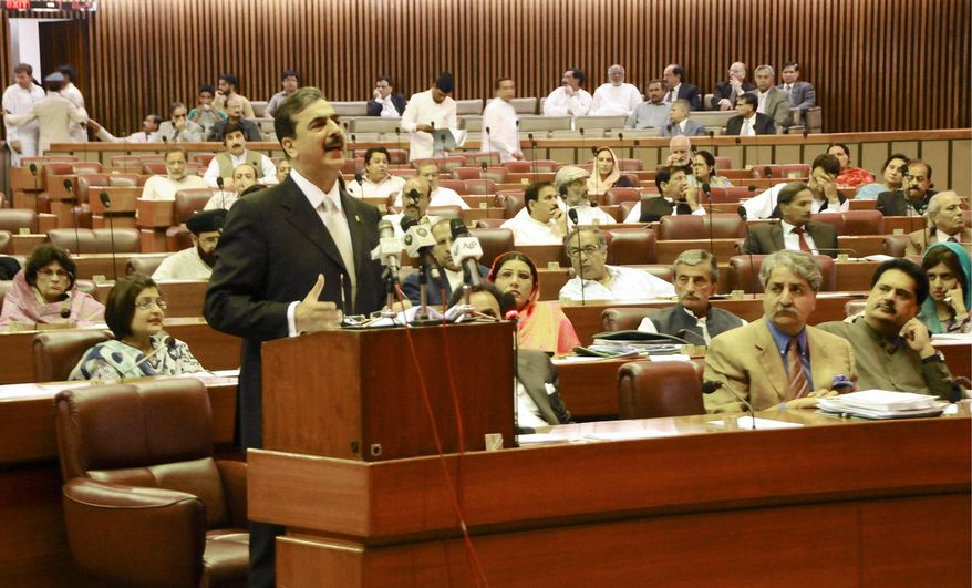 "ASSOCIATED PRESS Pakistani Prime Minister Yousuf Raza Gilani told his nation's parliament the country ""reserves the right to retaliate"" if the U.S. tries another raid like last week's attack on Osama bin Laden's compound. ""No one should underestimate the resolve and capability of our nation,"" he said."