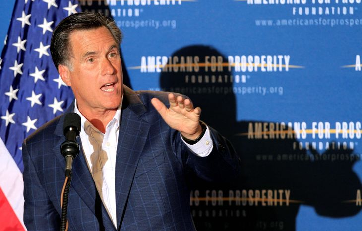 **FILE** Former Republican Gov. Mitt Romney of Massachusetts (Associated Press)