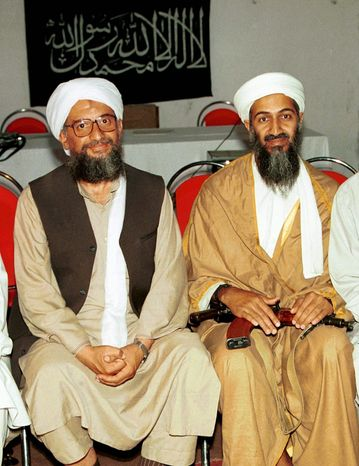 "Associated Press Ayman al-Zawahri (left), the right-hand man of Osama bin Laden, is likely to be the successor of the al Qaeda leader, an intelligence official said, but he ""is not popular within certain circles of the group."""