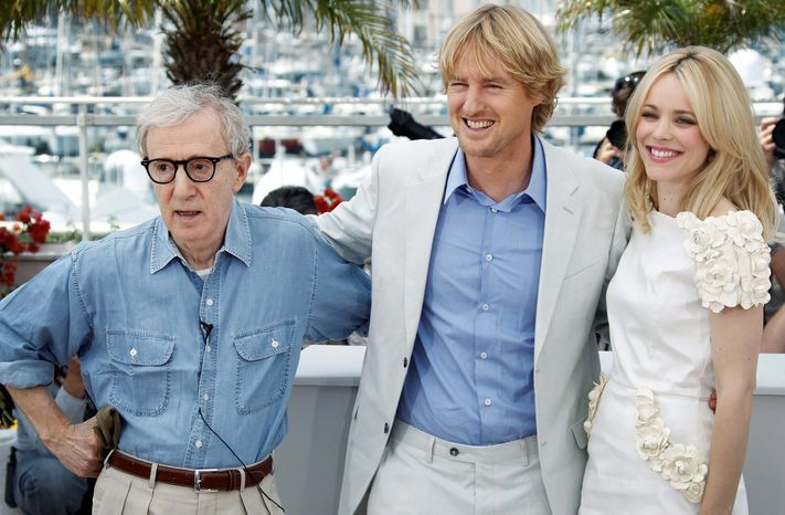 """""""Midnight in Paris,"""" the new film from director Woody Allen (left) and actors Owen Wilson and Rachel McAdams, opened the Cannes Film Festival on Wednesday. Mr. Wilson plays a Hollywood screenwriter and aspiring novelist  in the film."""
