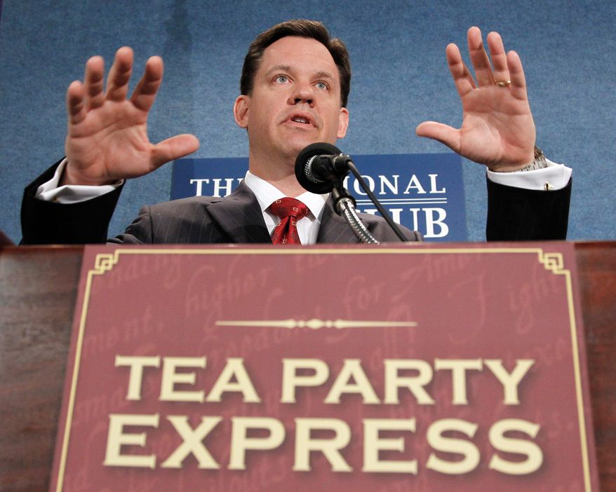 Nebraska Attorney General and Senate candidate Jon Bruning, a Republican, accepted the endorsement of the Tea Party Express on Wednesday. (Associated Press)
