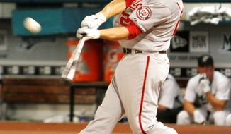ASSOCIATED PRESS Nationals first baseman Adam LaRoche entered Thursday night's game batting .202. He was dropped from fourth to fifth in the lineup for the series finale at Atlanta.