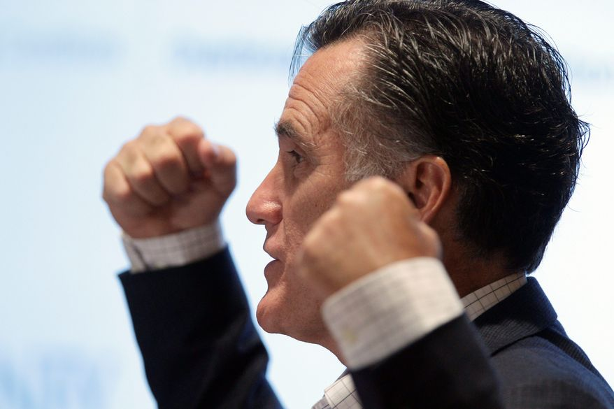 ASSOCIATED PRESS Mitt Romney said that as president he would grant more power and flexibility to states by block-granting Medicaid payments and easing federal standards during an address Thursday at the University of Michigan Cardiovascular Center in Ann Arbor.