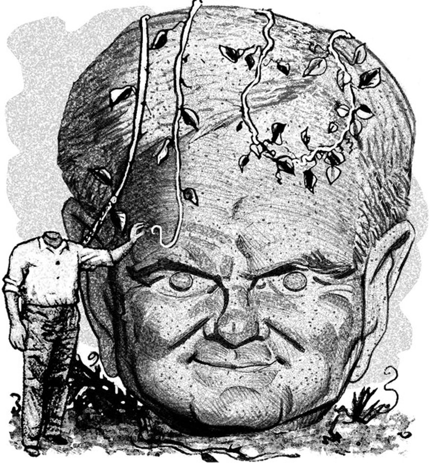Illustration: Newt Gingrich by Alexander Hunter for The Washington Times