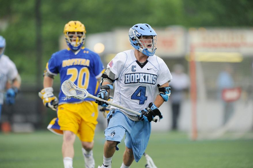 JOHNS HOPKINS UNIVERSITY Matt Dolente 's .672 faceoff winning percentage for Johns Hopkins leads the country. He won 13 of 20 draws in the Blue Jays' 12-5 first-round victory over Hofstra on Saturday.