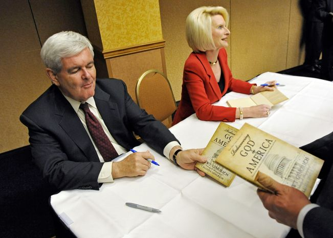 Former House Speaker and current Republican presidential hopeful Newt Gingrich and his wife, Callista, at one point owed as much as a half-million dollars to jeweler Tiffany & Co., as revealed in financial disclosures filed by Mrs. Gingrich. (Associated Press)