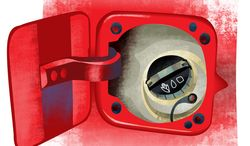Illustration: Flex fuel by Linas Garsys for The Washington Times